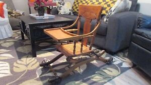 Antique High Chair/Push Cart Kingston Kingston Area image 6
