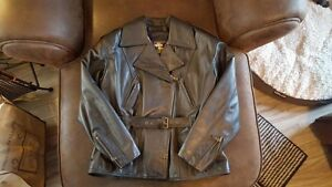 """2 Black """"BRISTOL"""" Leather Motorcycle Jackets for Sale"""