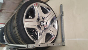 "19""chrome Bently coupe wheels"