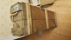 Empty Howitzer Army Crate for sale