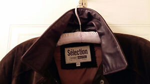 BEAUTIFUL CHOCOLATE BROWN SUEDE CAR COAT Cambridge Kitchener Area image 3