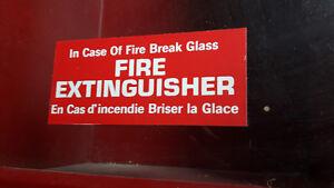 Vintage Fire Extinguisher Cabinet Display Holder Metal w/ Glass