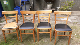 REDUCED!!! Set of 4 retro breakfast chairs