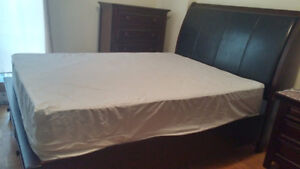 BED SET, 2 BOX BEDS, OFFICE TABLE AND 2 OFFICE CHAIRS FOR SALE