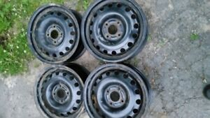 15 INCH STEEL WHEELS 5X108MM  6 INCHES WIDE WITH 63.4 CTR BORE