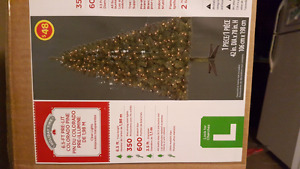 Walmart Christmas tree and Costco plastic ornaments (firm)