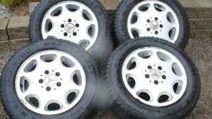 MB Alloy Rims & Gislaved Winter Tires 195 65 R15 - Set $1000