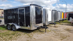 Sale on 7 x 14 Enclosed Cargo Trailers with Rear Ramp Door