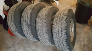 GM 8-bolt Steel Rims with LT245/75r16