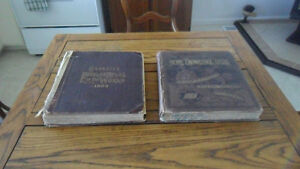 2 large atlases from the 1800's