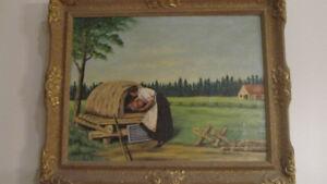 J.V. Pelletier Oil painting / Peinture à l'huile J.V. Pelletier