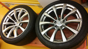g37 oem 19x9 rear rims with tires