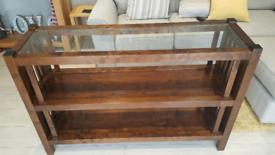 Lovely Dark Wood Shelving Unit / Bookcase