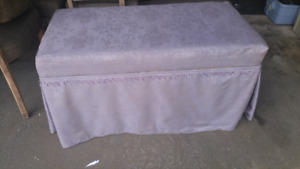 Nice light purple benche with storage.