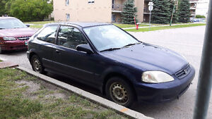 1999 Honda Civic CX Coupe (2 door) for parts