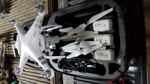 Dji phanton 3 with backpack and 4 bateries