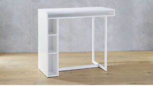 """CB2 public white 42"""" high dining table"""