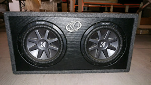 Subs, Box and Amp.