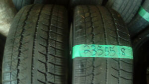 Two 235 55 18 winter tires