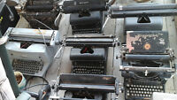Collection of 7 antique typewriters