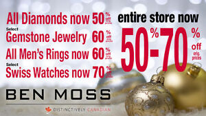"WOW!  Ben Moss ""GOING OUT OF BUSINESS SALE"" Now  50% to 70% OFF! London Ontario image 1"