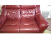 Red electric two seater