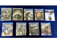 PS4 games Minecraft, call of duty, destiny plus more