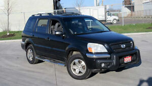 2005 Honda Pilot EXL, 8 Pass,Leather,roof, 3 Y/ Warranty availab