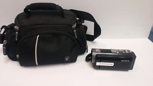 Sony Handycam with carrying case