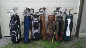 GOLF CLUBS AND BAGS