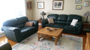 All Leather  Couch and Loveseat