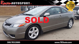 SOLD!!! CERTIFIED 2006 Civic LX 2dr - AUTO - LOADED -