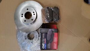 New Front Brake Rotors and Pads