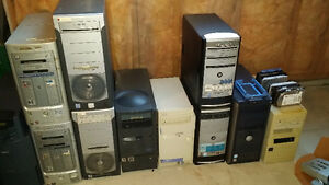 13 Desktops Various Brands No Hardrives!