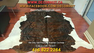 New Cowhide Rug Cow skin Cow Hide Leather Hair on Cowhide Peterborough Peterborough Area image 5
