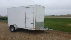 Damaged Mission EXEC 6 x12 Aluminum Enclosed Trailer