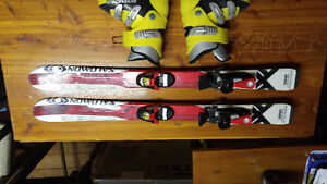 Salomon skiis and boots 100mm