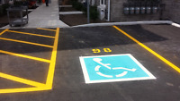 PARKING LOT LINE STRIPING / PAINTING