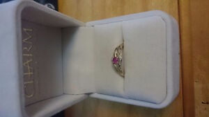 10K Gold Ruby Ring