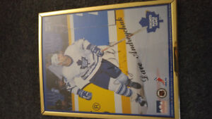 Dave Andreychuck signed 8 x 10 Toronto Maple Leafs picture