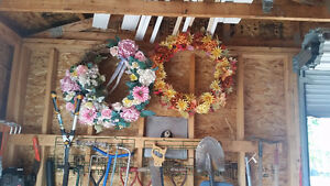 Two very large wreaths