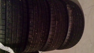 4/ TOYOTA CAMRY WINTER TIRES ON STEEL RIMS 195/65/15