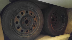 195/55 R15 tires with rims - great condition