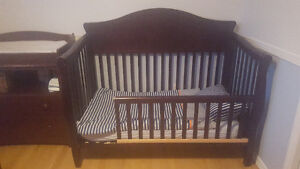 toddler crib and changing table/dresser