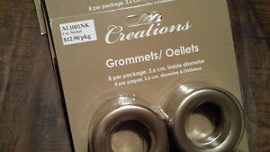56 NEW curtain grommets..