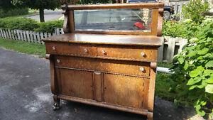 Tiger Oak Buffet with mirror