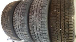 MICHELIN X-ice tires 215/60 R16 on rims