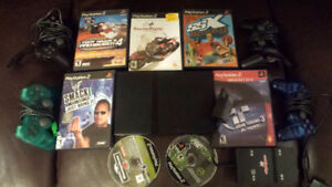 PS2 Slim with 7 games, 4 Controllers and Multitap