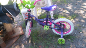 Kids high chair and bicycle