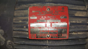 Moteur 3HP BROOK ELECTRIC MOTOR 550 Volt